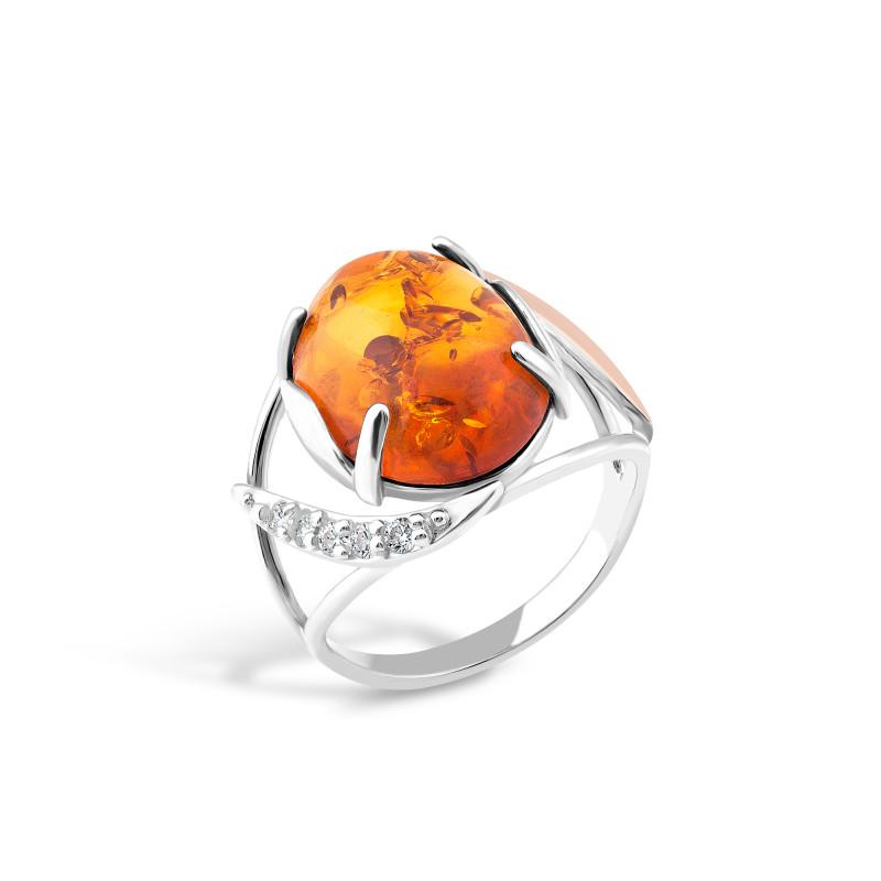 Кольцо с янтарем 156