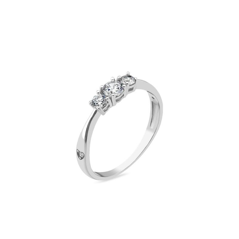Кольцо с белым фианитом 1181