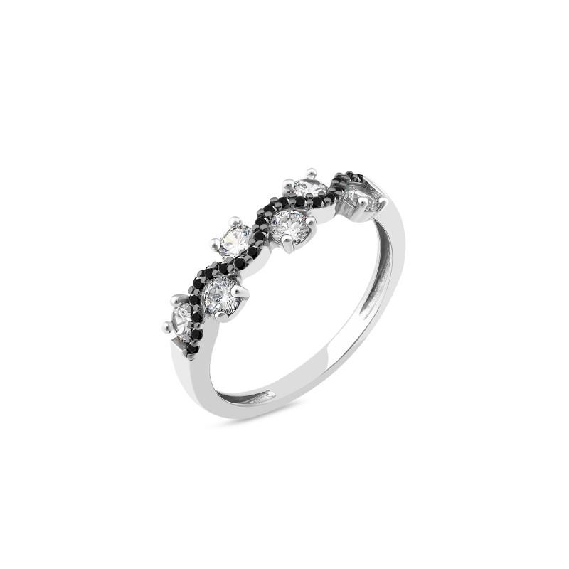 Кольцо с белым фианитом 889