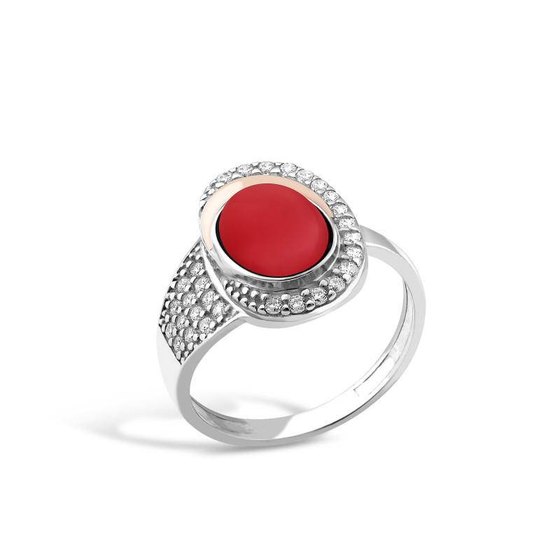 Кольцо с кораллом 146