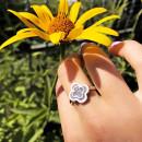 Серебряное кольцо  Клевер 459 2