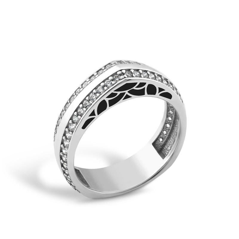 Кольцо с эмалью 428