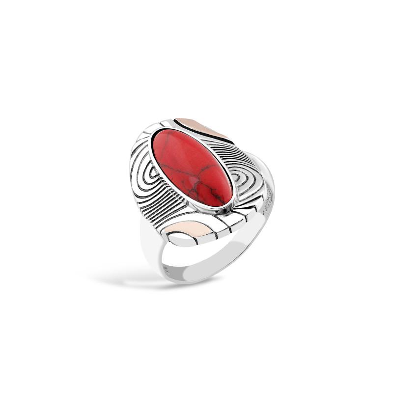 Кольцо с яшмой 202