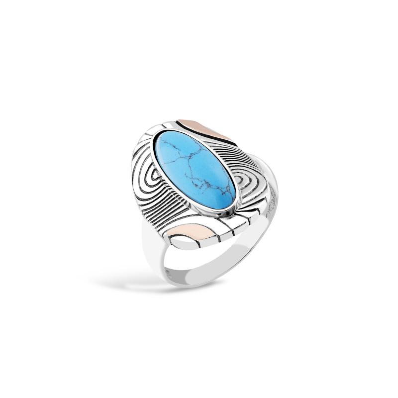 Кольцо с бирюзой 202