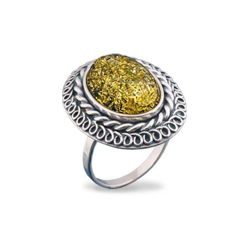 Кольцо с янтарем 118