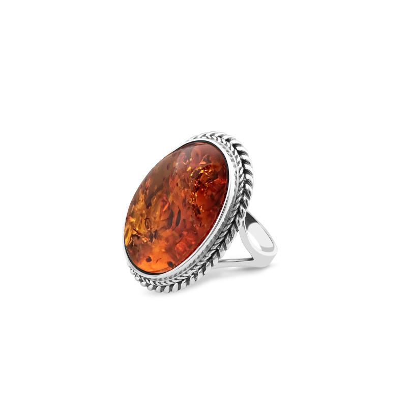 Кольцо с янтарем 119