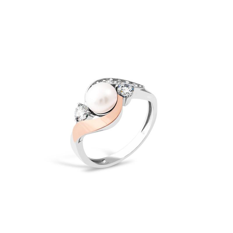 Кольцо с жемчугом 712