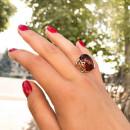 Кольцо с янтарем 122 2
