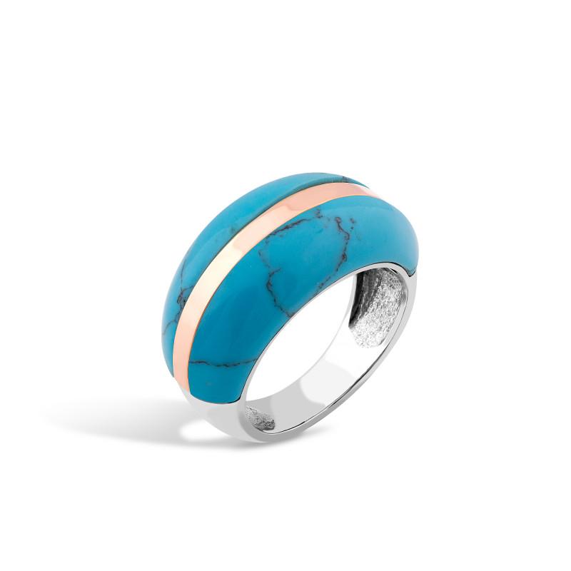 Кольцо с бирюзой 250