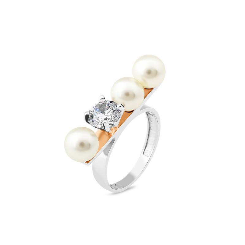 Кольцо с жемчугом 906