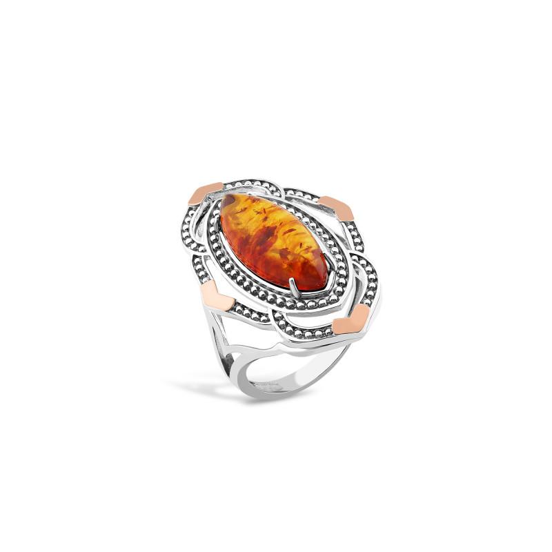 Кольцо с янтарем 630