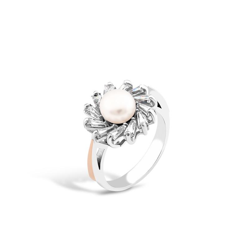 Кольцо с жемчугом 631