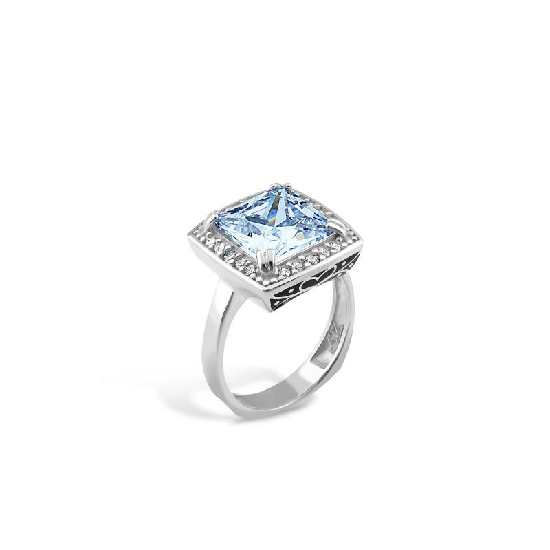 Кольцо с голубым альпинитом 480