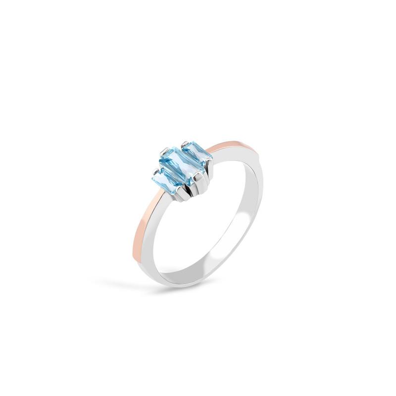 Кольцо с голубым альпинитом 730