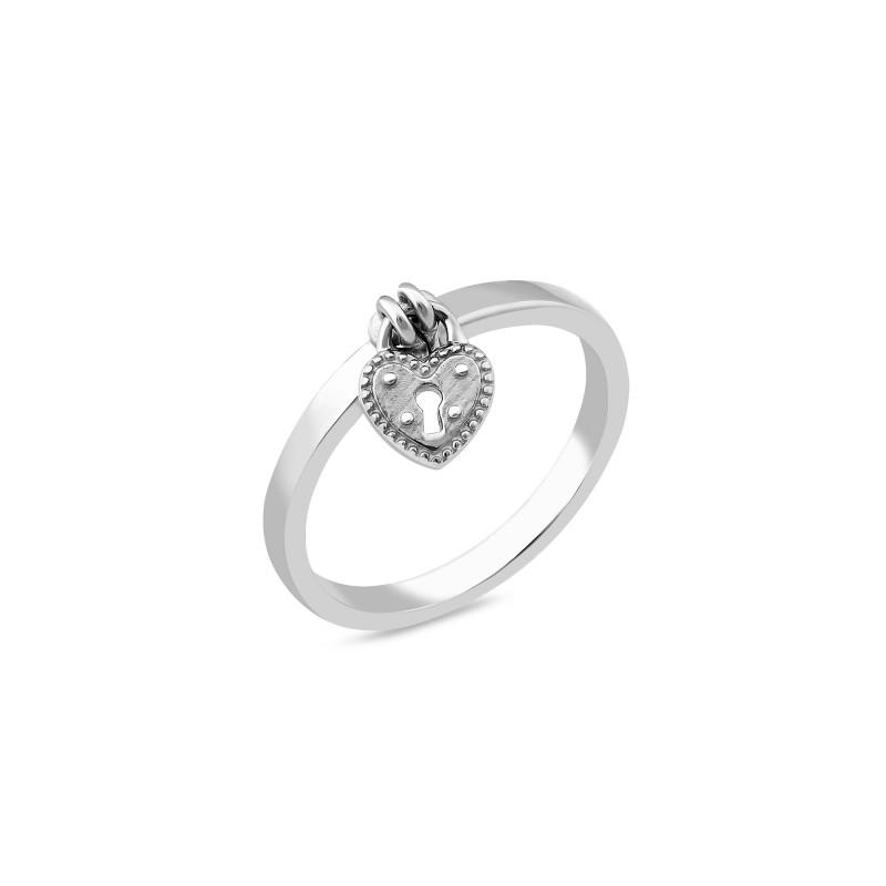 Серебряное кольцо Сердечко 1071