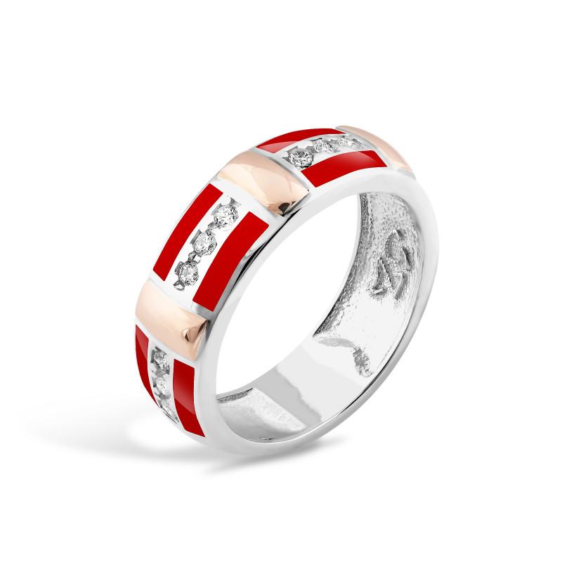 Кольцо с эмалью 273