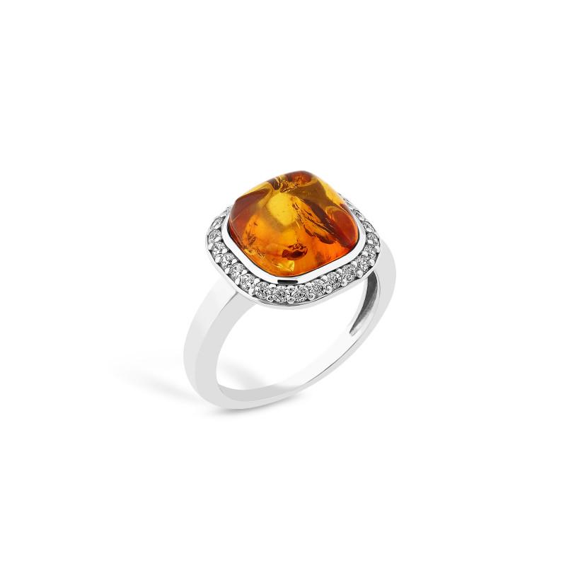 Кольцо с янтарем 828