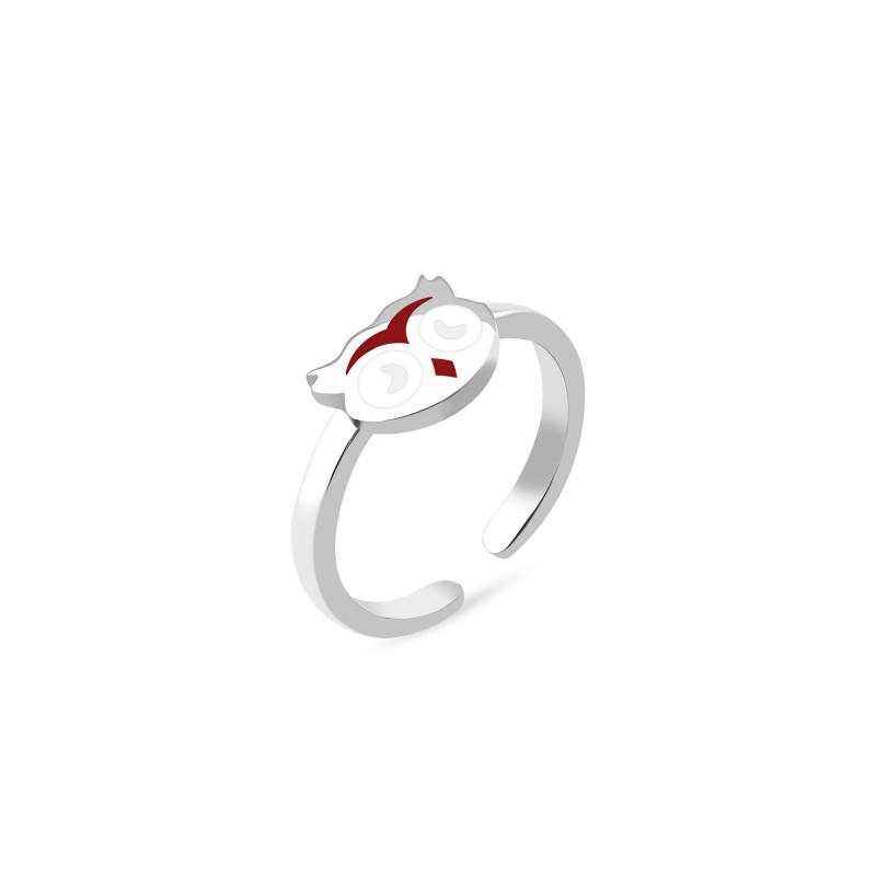 Кольцо с эмалью Сова 1138