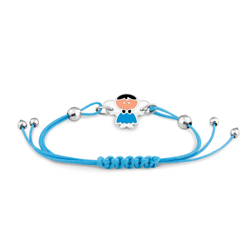 Браслет с голубым шнуром 679