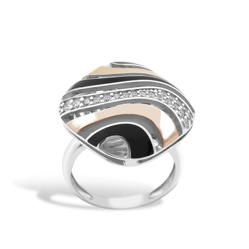 Кольцо с эмалью 425