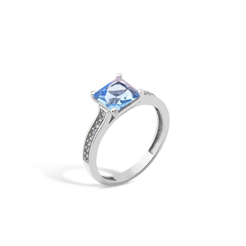 Кольцо с голубым альпинитом 439