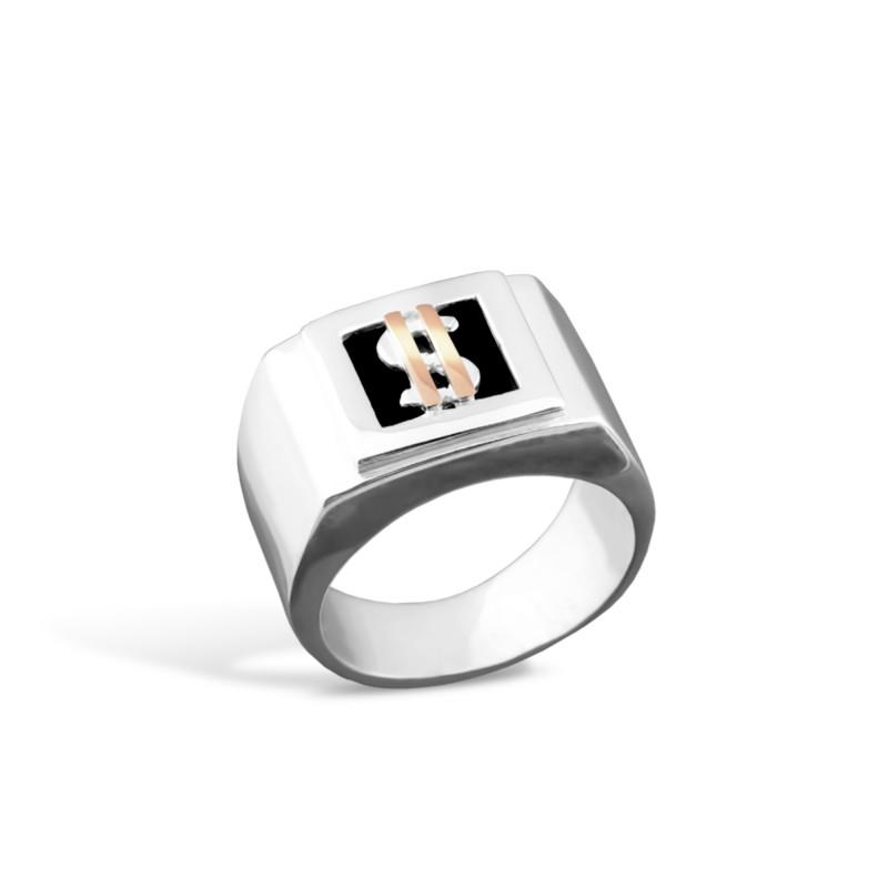 Кольцо с ониксом 021 бакс