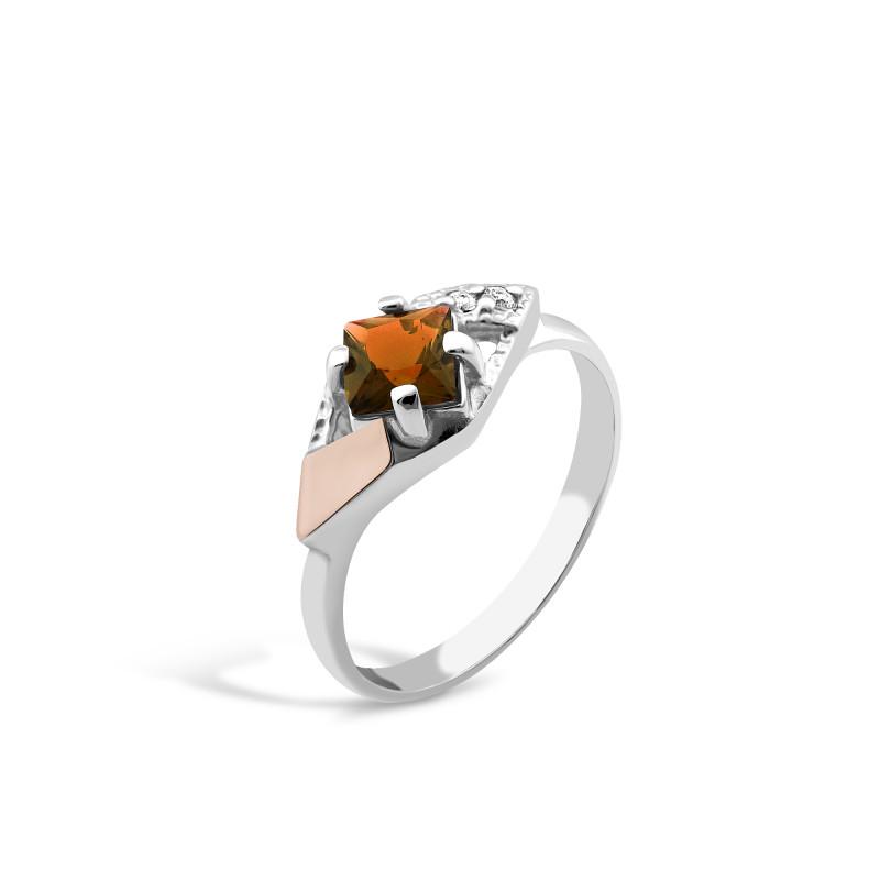 Кольцо с раухтопазом 142