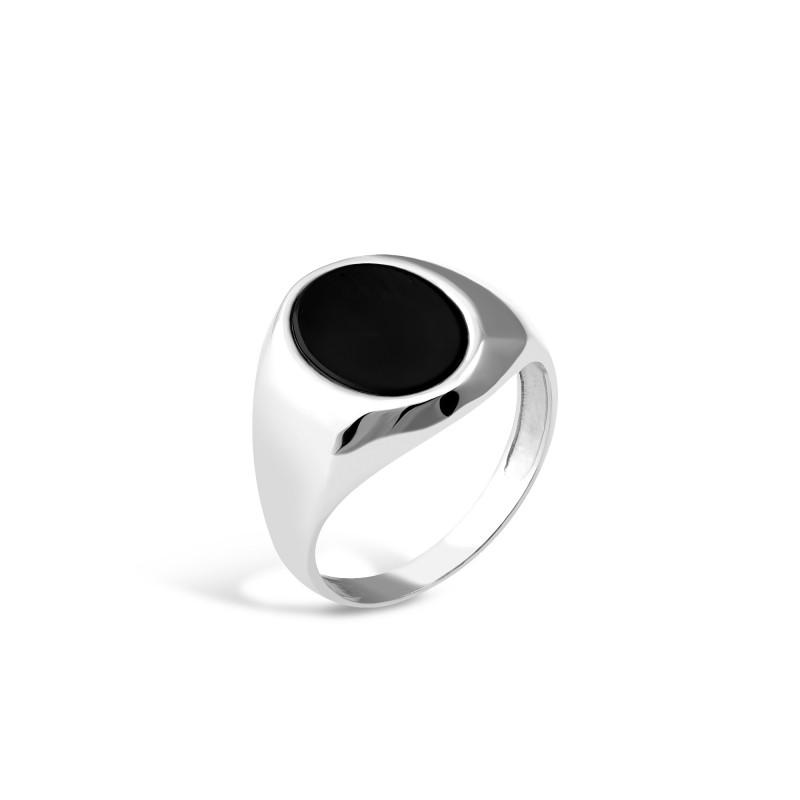 Кольцо с ониксом 635
