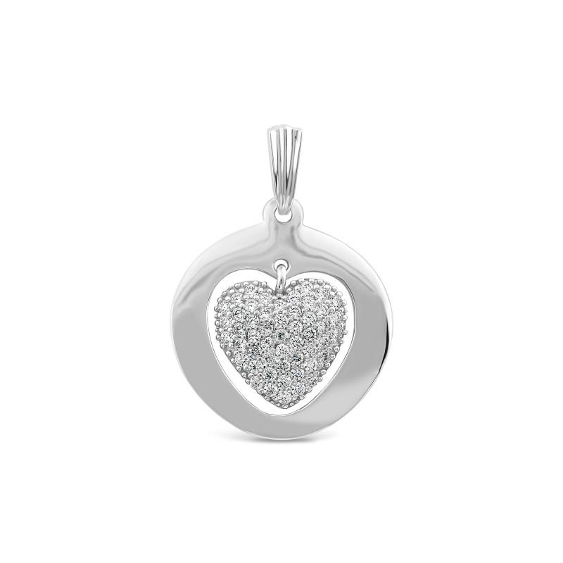 Серебряная подвеска Сердце 700