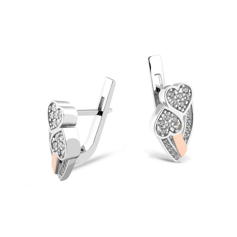 Серебряные серьги Сердце 692