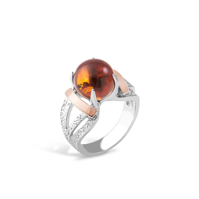 Кольцо с янтарем 015