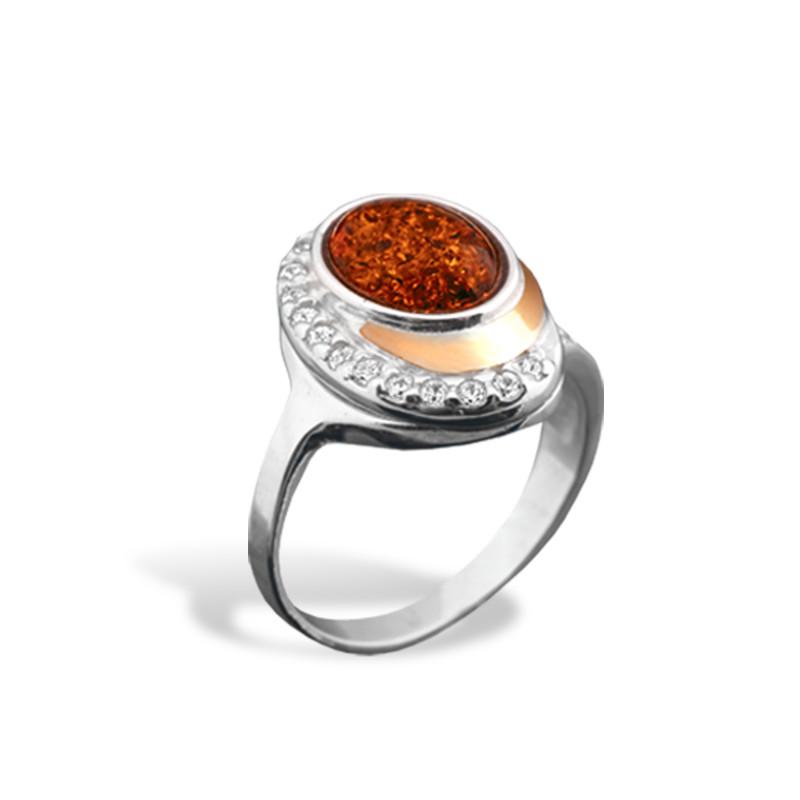 Кольцо с янтарем 146