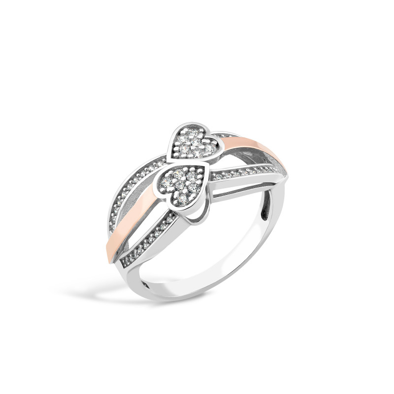 Серебряное кольцо  Сердце 692