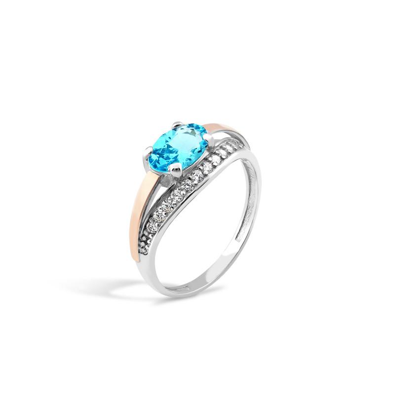 Кольцо с голубым альпинитом 263