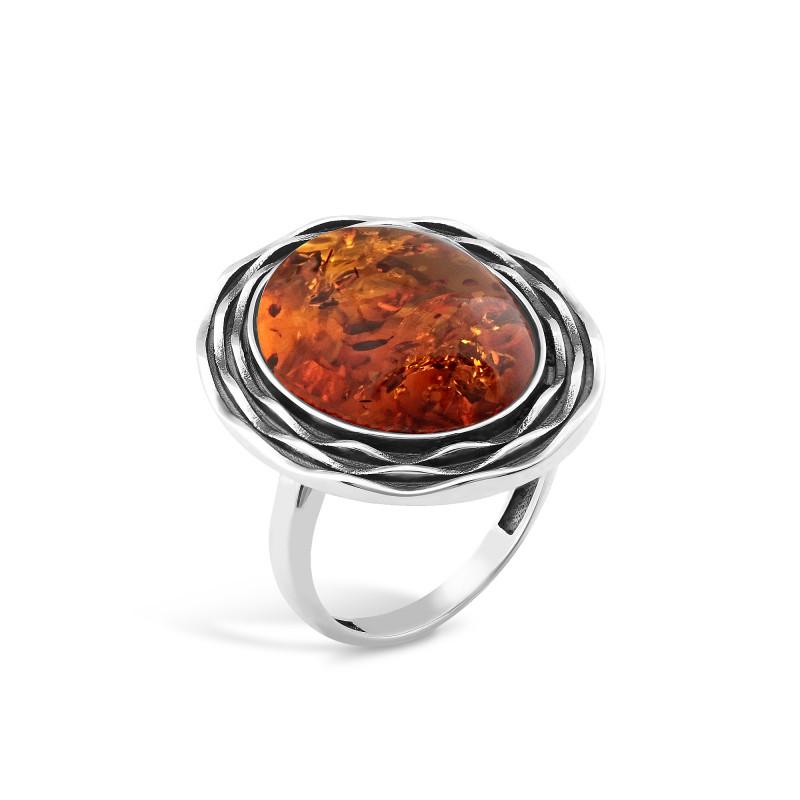 Кольцо с янтарем 434