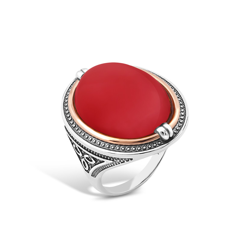 Кольцо с кораллом 407