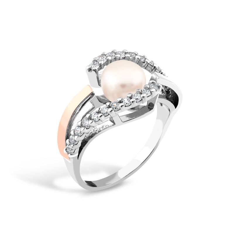 Кольцо с жемчугом 163