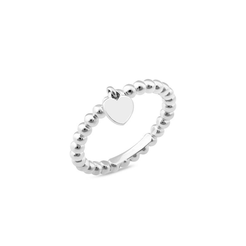 Срібна каблучка Серце 1064