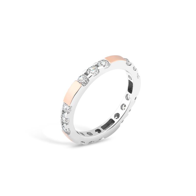 Кольцо с белым фианитом 647