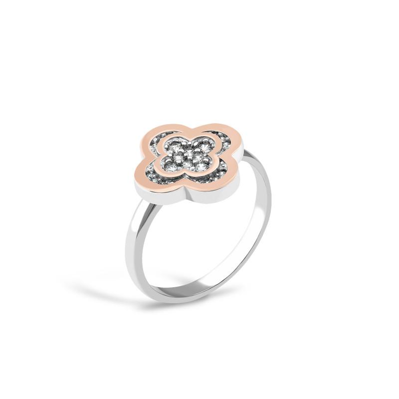 Серебряное кольцо  Клевер 459