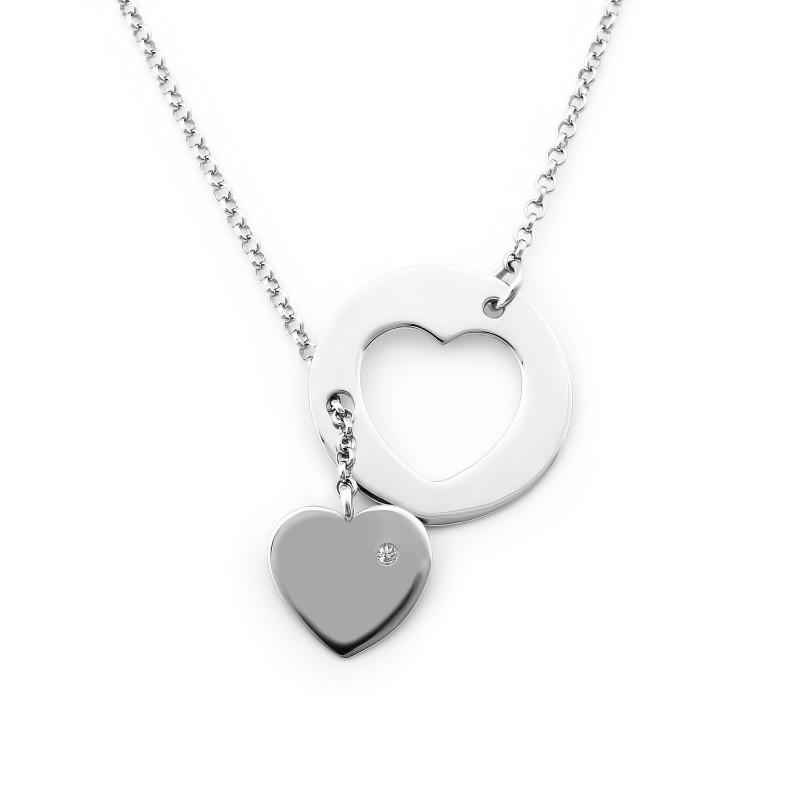 Серебряное колье Сердце 860
