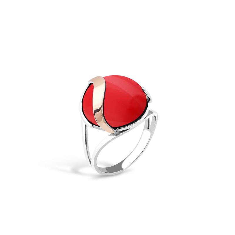 Кольцо с кораллом 154