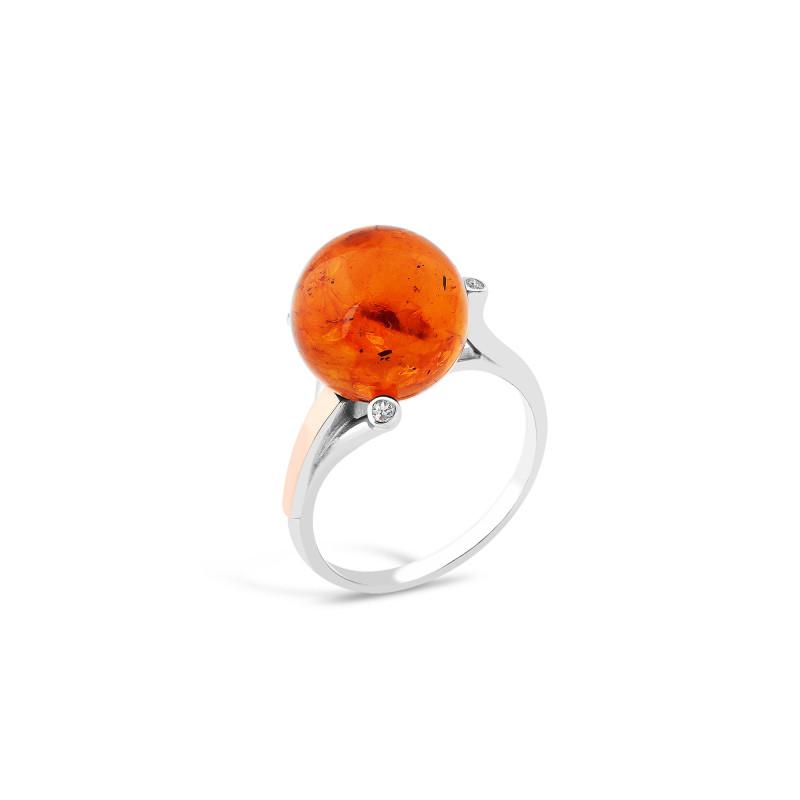Кольцо с янтарем 563
