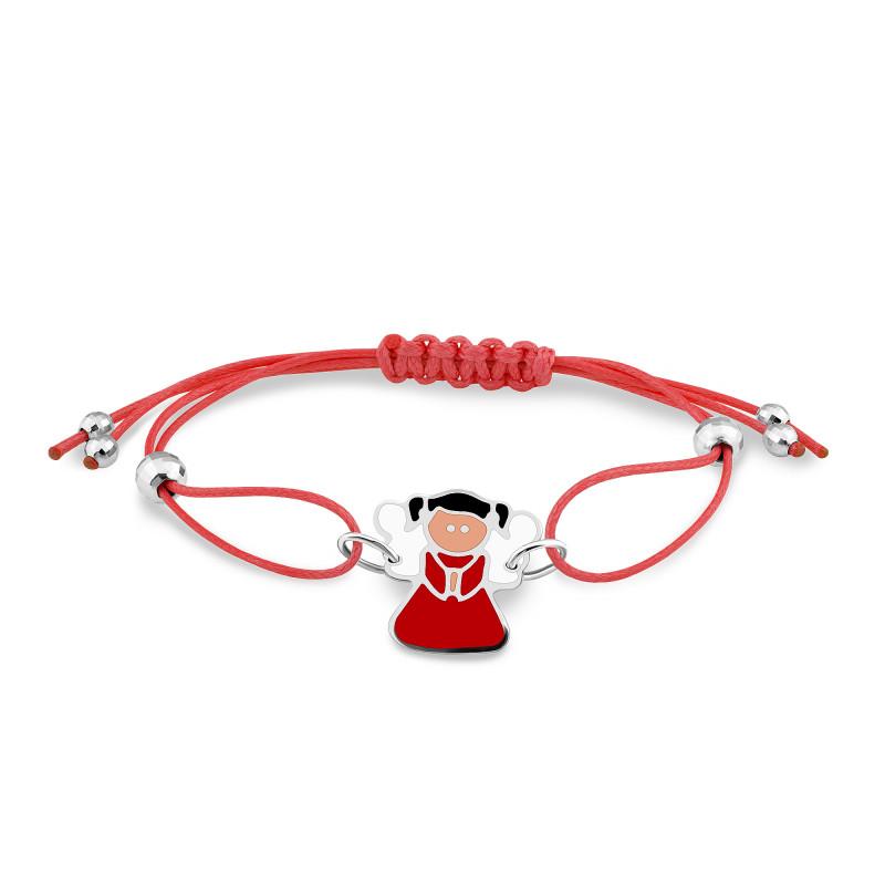 Браслет с красным шнуром 564