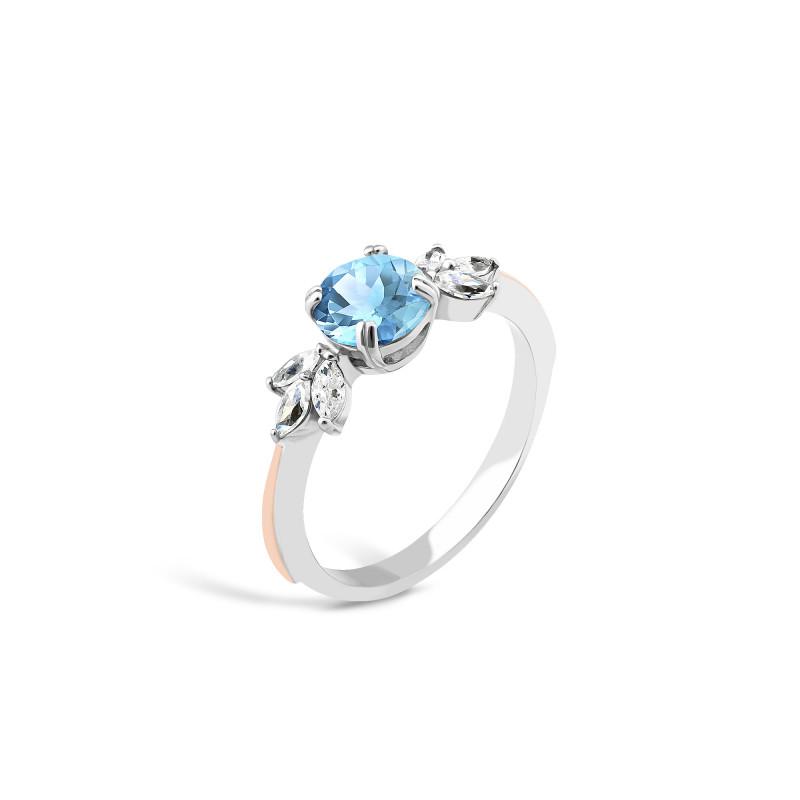 Кольцо с голубым альпинитом 732