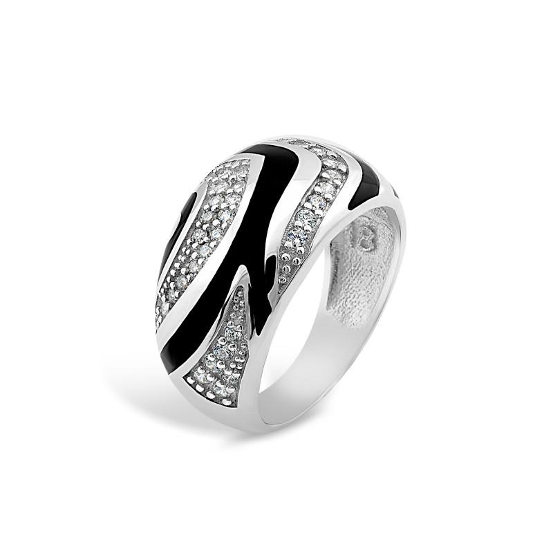 Кольцо с эмалью 421