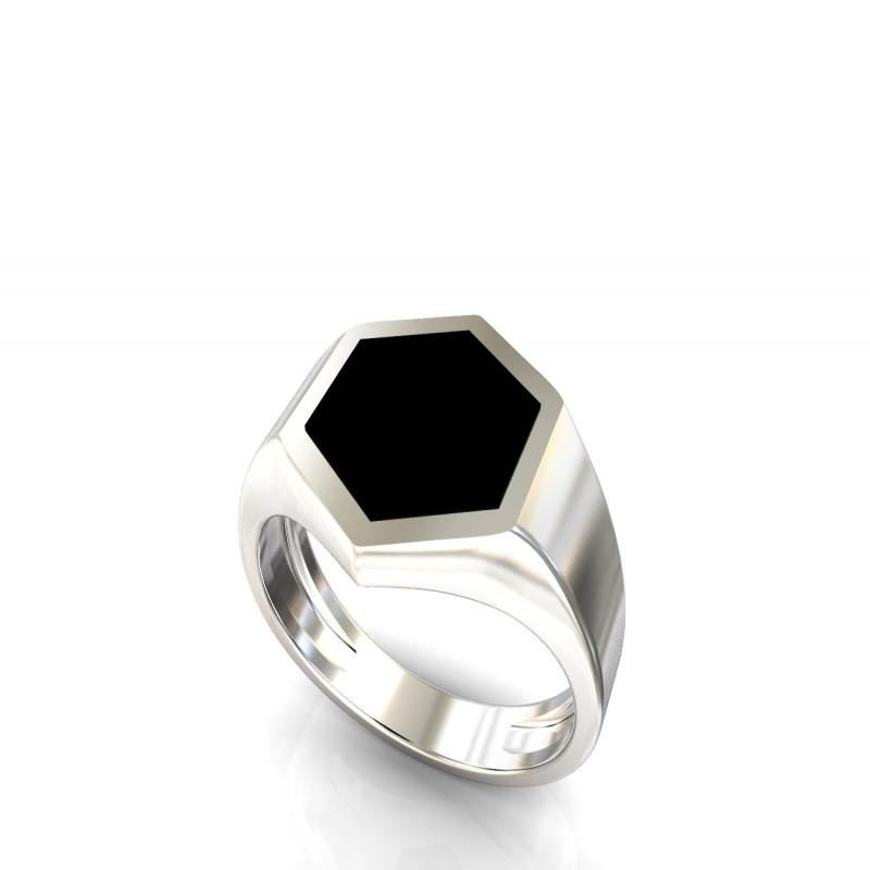 Кольцо с ониксом 545
