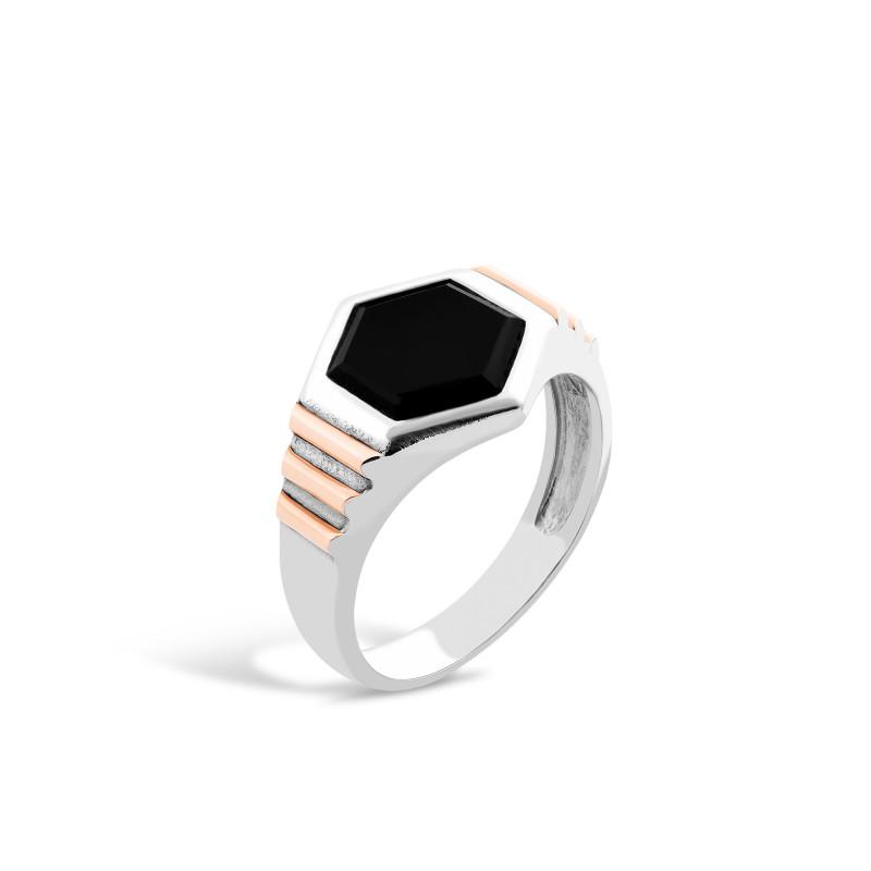 Кольцо с ониксом 546