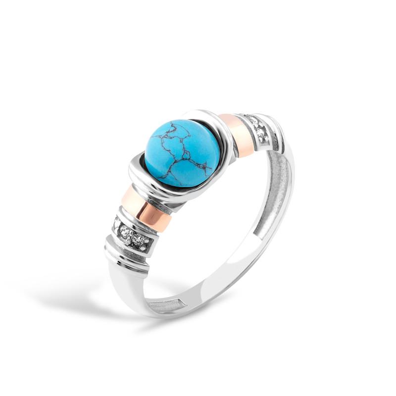 Кольцо с бирюзой 214