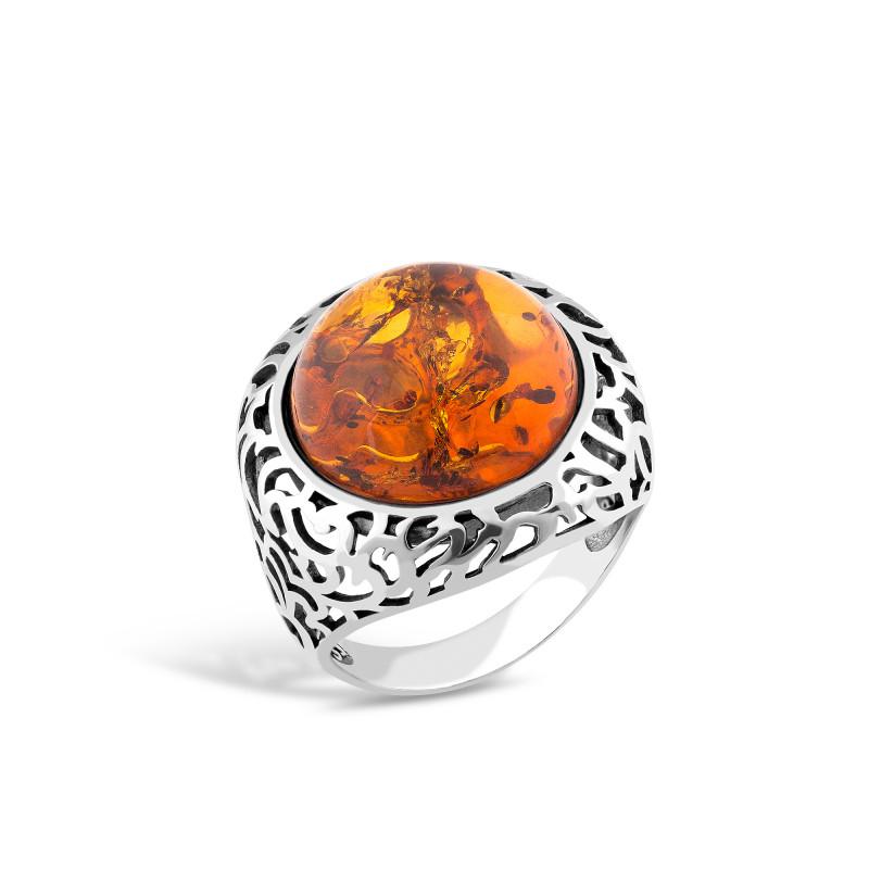 Кольцо с янтарем 215